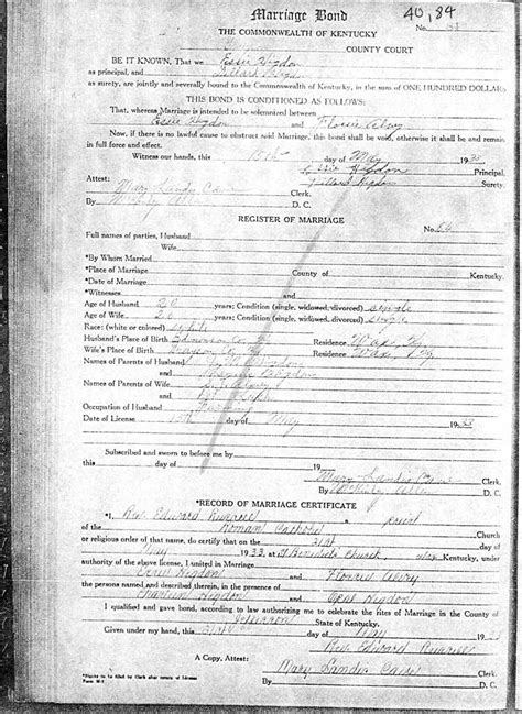 County Ky Marriage Records Kentucky Marriage Records Hancock To Knott County
