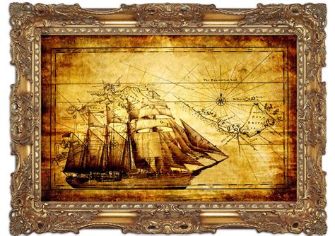 Large Wall Murals Uk old world map with ship maps art mural printed wall mural