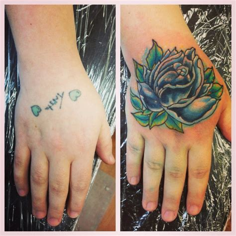 tattoo cover up on hand rose hand tattoo coverup tattoos i have done pinterest