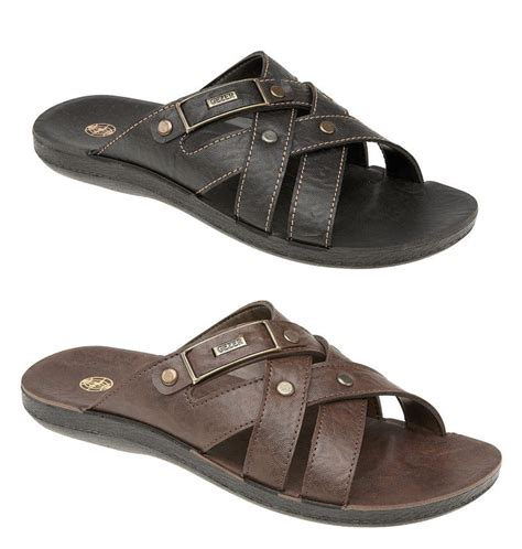 mule type sandals mens leather look mule style jesus sandals mules brown or