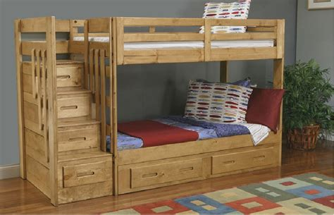 How To Make Wooden Bunk Beds Bunk Bed With Stairs Build Bunk Bed With Stairs