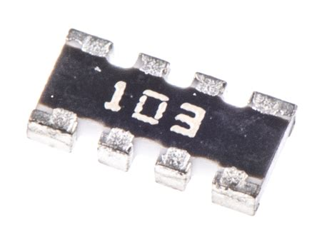 chip resistor bourns cay16 103j4lf bourns cay16 series 10kω 177 5 isolated smt resistor array 4 resistors 0 25w