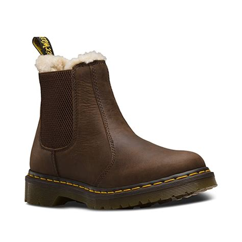 Dr Martens Boots 8217 dr martens leonore chelsea boot brown slip on leather chelsea boot from jelly egg uk