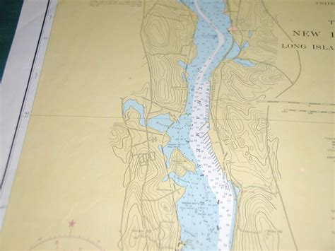 thames river navigation map 1956 new london harbor thames river connecticut large