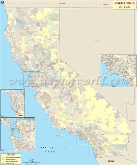 california zip code zip code map california world map 07