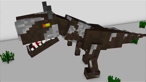 Minecraft Papercraft Dinosaur - minecraft dinosaur t rex