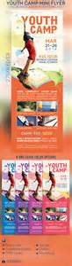 youth camp mini flyer template graphicriver