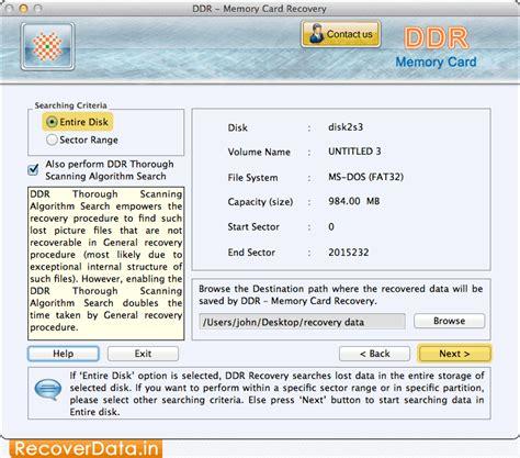 mac memory card recovery software screenshots how to