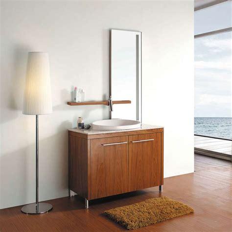 Modern Single Bathroom Vanity 40 Quot Modern Single Bathroom Vanity Set Thai Teak Vm V15113 Conceptbaths