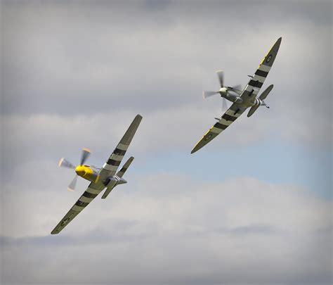 mustang p 51d vs spitfire photograph by maj seda