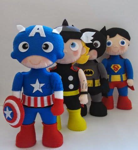 Boneka Avenger Thor capit 227 o am 233 rica thor batman e superman em feltro personagens bobs feltro and