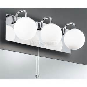 Modern Bathroom Lights Uk Franklite Modern 3 Light Bathroom Wall Fitting In Polished