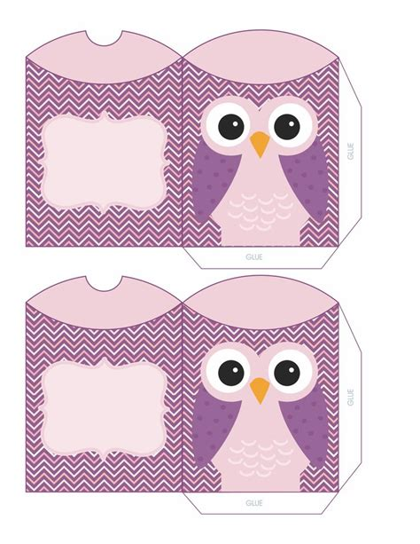 owl pillow box template purple owl boxes envelopes owl box boxes