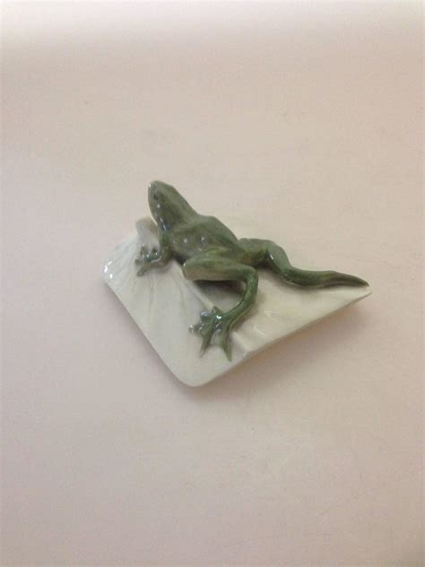 Royal Copenhagen Art Nouveau Frog Paperweight For Sale At Frog Desk Accessories