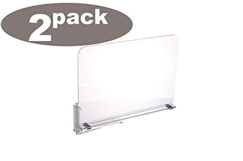 Acrylic Shelf Dividers Pack Of 2 by Ybmhome Acrylic Shelf Dividers Closet Shelves Organizer