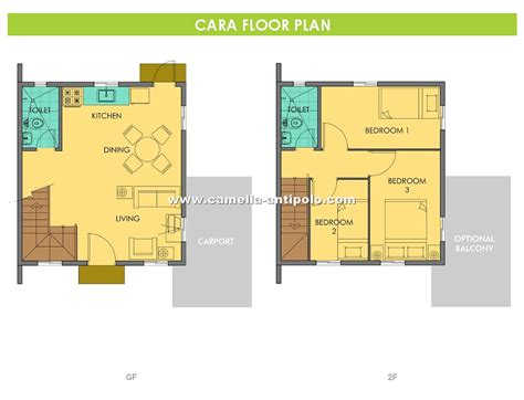 camella homes design with floor plan camella sierra metro east cara house and lot for sale in