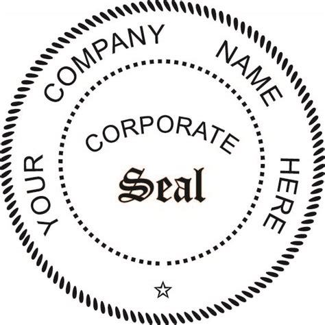 company seal template pocket seal 1 75 quot corporate seal