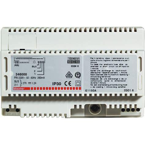 alimentatore videocitofono bticino bticino 346000 alimentatore ter346000 elettroonline it