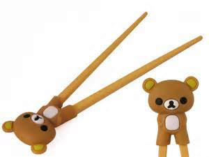 Childrens Necklace Cute Brown Rilakkuma Training Chopsticks For Kids