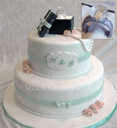 Engagement Wedding Cakes by Ring Engagement Cake Cakecentral
