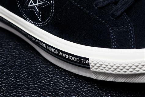 Sepatu Converse One X Nighborhood Nbhd Blck Premium Quality neighborhood x converse chuck 74 and one 70 sole collector