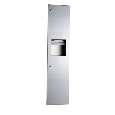 bathroom paper towel dispenser bobrick b 38034 3 8 gallon trimlineseries recessed