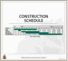 doc sample construction timeline free construction