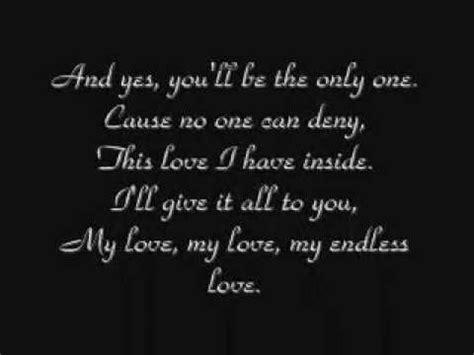 testo endless lionel richie diana ross my endless w lyrics