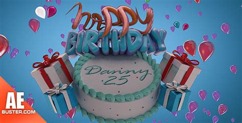 after effects project files happy birthday cake lite
