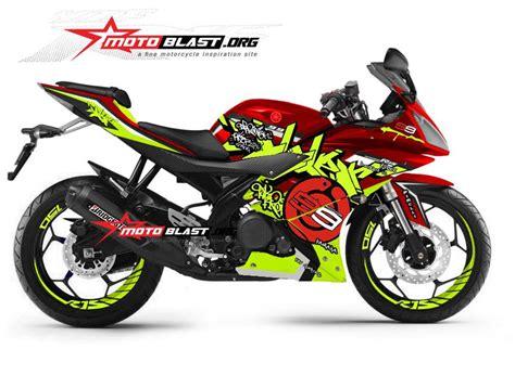 modifikasi striping yamaha  red grafiti jl motoblast