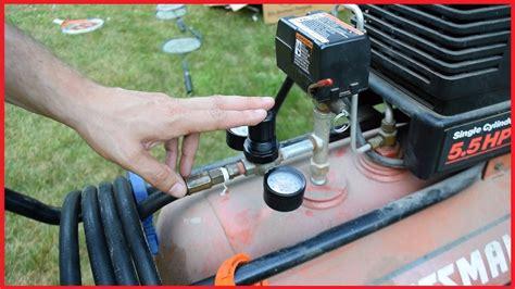 sears craftsman air compressor repair leaky regulator