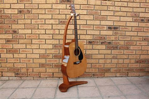 diy wooden guitar stand  basic power tools woodwork