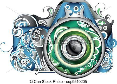 abstract camera. illustration of abstract camera.