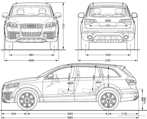 Audi Q7 Abmessungen by The Blueprints Blueprints Gt Cars Gt Audi Gt Audi Q7