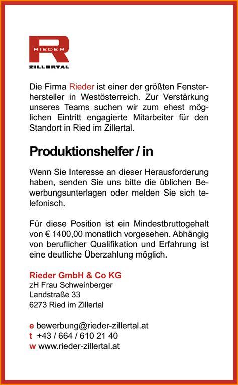 Bewerbungsanschreiben Produktionsmitarbeiter Bewerbungsanschreiben Produktionshelfer Reimbursement Format
