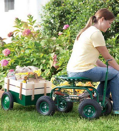 garden scooter tractor seat fancy rolling scoot n do garden seat