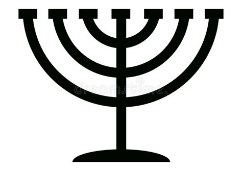 candelabro judeus menorah candelabrum stock vector illustration of jewish