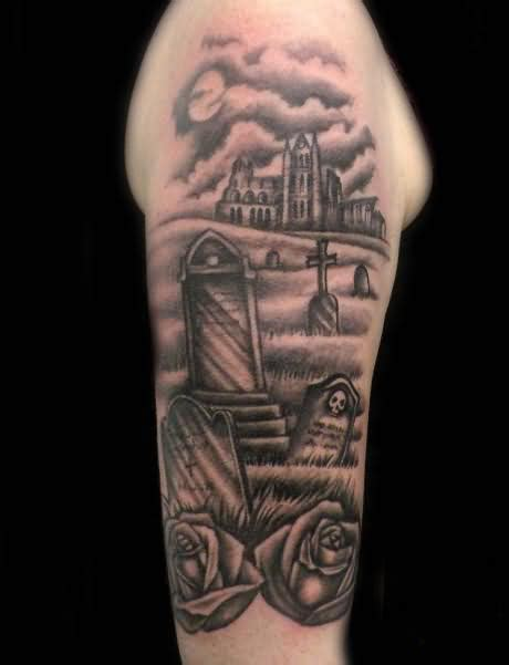 cemetery tattoos graveyard tattoos designs ideas and meaning tattoos for you