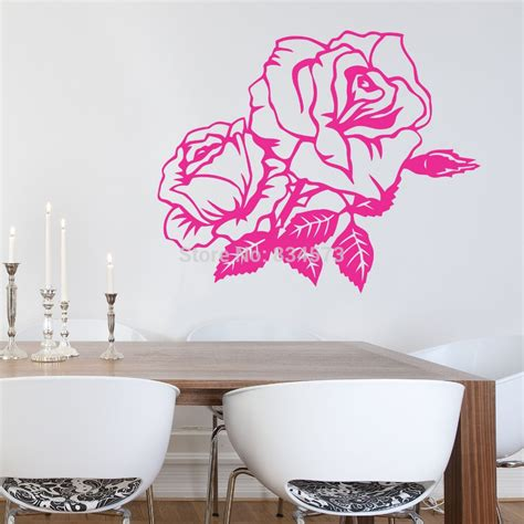 a home decor aliexpress com buy hot beautiful rose flower wall art
