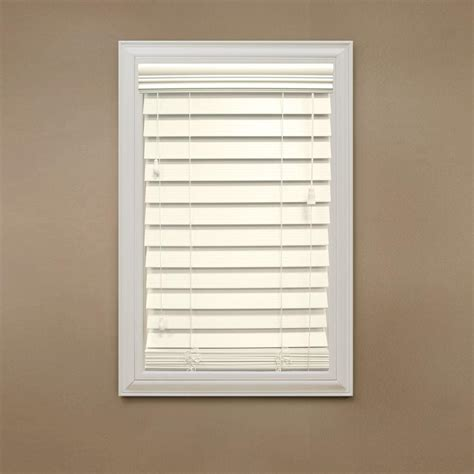 home decorators collection premium faux wood blinds home decorators collection cut to width ivory 2 1 2 in
