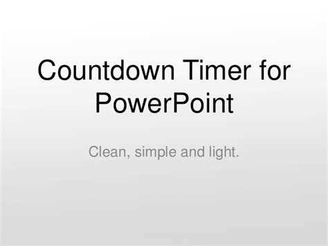 Countdown Timer For Powerpoint Countdown Timer For Ppt