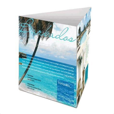 custom printed 3 sided table tents printcosmo