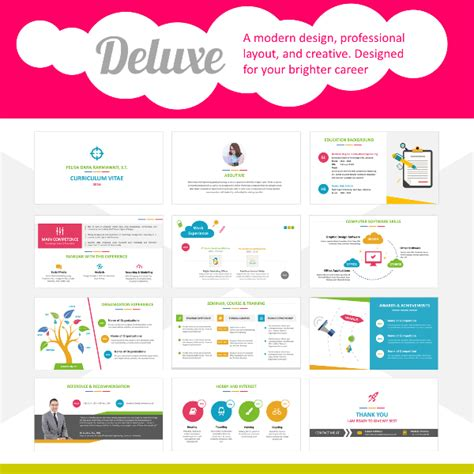 Deluxe Creative Powerpoint Resume Template Resumepixel Creative Resume Templates Powerpoint