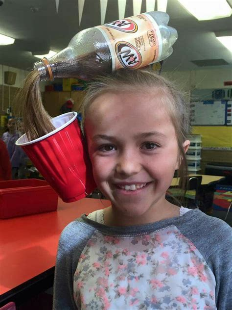 hairstyles for school bad hair day crazy hair day pop bottle spill pony tail hair ideas for