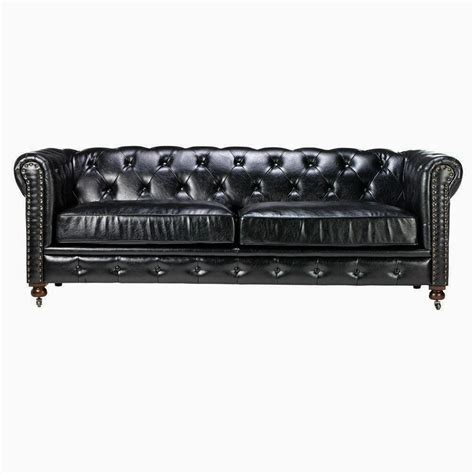 tufted black leather sofa tufted tufted leather
