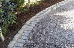 stone edging gravel driveway ideas gravel driveway