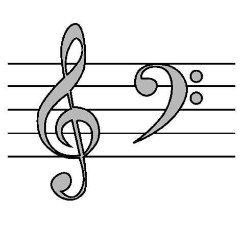 imagenes para dibujar musica dibujo de clave de sol y de fa pintado por musica en