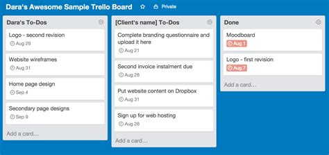 Trello Exle Trello Project Management Templates