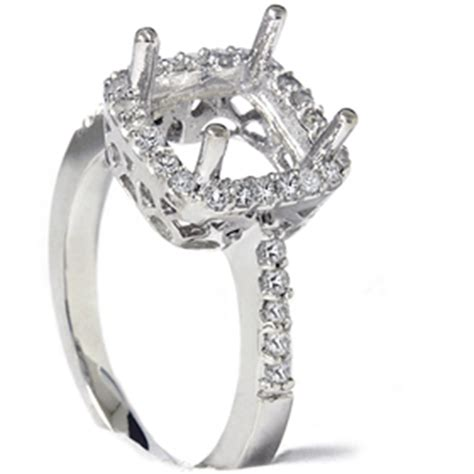 1 2ct princess cut halo engagement ring setting ebay