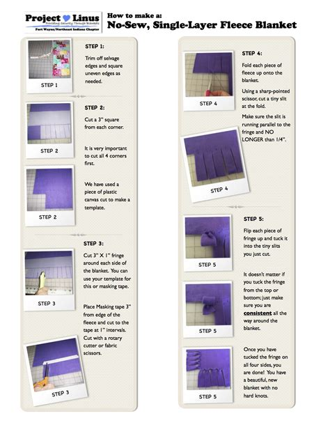 printable directions for making fleece tie blankets how can i help project linus